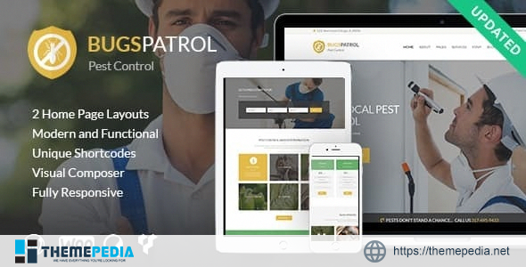 BugsPatrol – Pest & Insects Control Disinsection Services WordPress Theme [Updated Version]