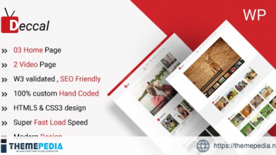 Deccal – Video Blogging WordPress Theme [Free download]