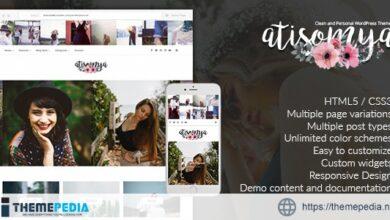 Atisomya – Clean & Personal WordPress Blog Theme [nulled]