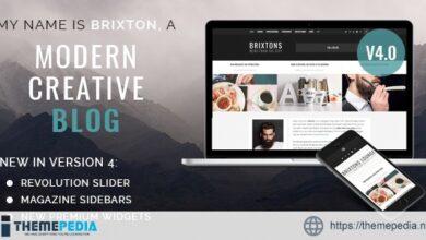 Brixton – A Responsive WordPress Blog Theme [Updated Version]