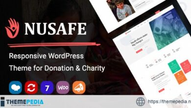 Nusafe – Responsive WordPress Theme for Donation & Charity [Free download]