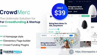 Crowdmerc – Crowdfunding Startup Fundraising WordPress Theme [nulled]