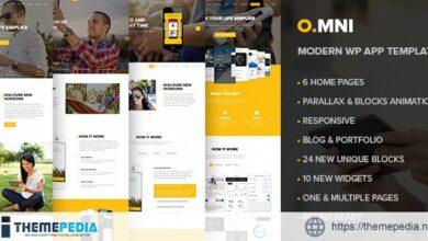 Omni – One Page AppWordPress Theme [Free download]