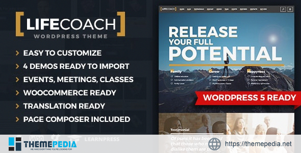 Life Coach WordPress Theme [Free download]