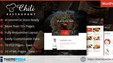 Chili – Multi-Purpose Restaurant WordPress Theme [Latest Version]