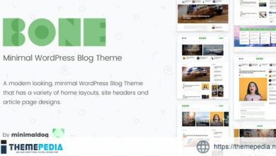 Bone – Minimal & Clean WordPress Blog Theme [Latest Version]