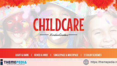 Child Care – Children & Kindergarten WP Theme [Updated Version]
