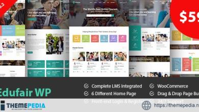 Edufair – Multipurpose WordPress Theme For Education [Free download]