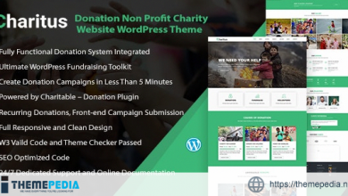 Charitus – Charity WordPress Theme with Donation System [nulled]