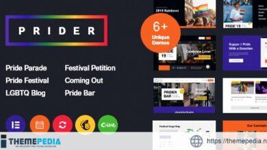 Prider – LGBT & Gay Rights Festival WordPress Theme + Bar [Free download]