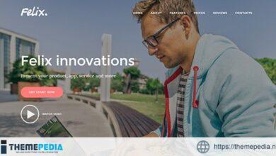 Felix. – Startup Landing Page WordPress Theme [Updated Version]
