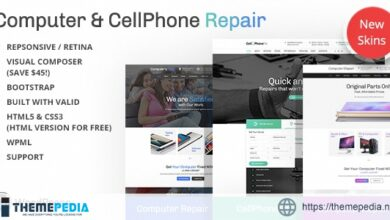 Computer and CellPhone repair services WordPress Theme [Free download]