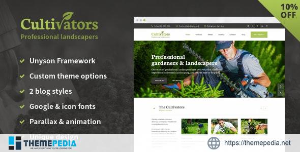 Cultivators – WordPress Gardening Design [Free download]