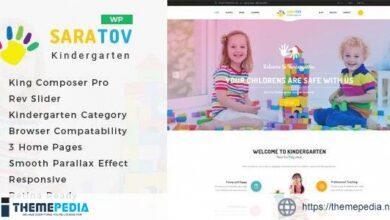 Saratov – Day Care & Kindergarten School WordPress Theme [Free download]