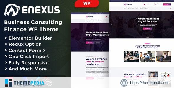 Enexus – Consulting Business Elementor WordPress Theme [Free download]