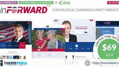 inForward – Political Campaign and Party WordPress Theme [Free download]
