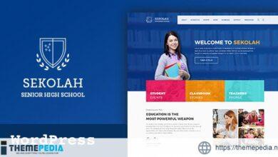 Sekolah – Senior High School WordPress Theme [Updated Version]