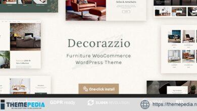 Decorazzio – Interior Design and Furniture Store WordPress Theme [Free download]