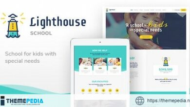 Lighthouse – School for Handicapped Kids with Special Needs WordPress Theme [Free download]