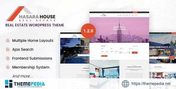Hasara House – Real Estate Responsive WordPress Theme [Free download]