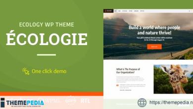 Ecologie – Environmental & Ecology WordPress Theme [Free download]