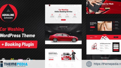 Aqualine – Car Washing Service with Booking System WordPress Theme [Free download]