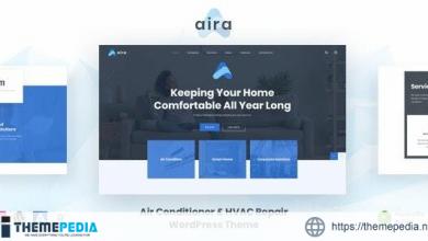 Aira – Conditioning & HVAC Repair WordPress [Latest Version]
