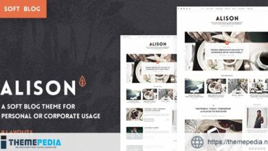 Anne Alison – Soft Personal Blog Theme [Free download]