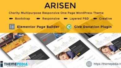 ARISEN – Charity Multipurpose Responsive One Page WordPress Theme [Free download]