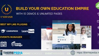 Unidash – WordPress Theme for University and Online Education [Free download]