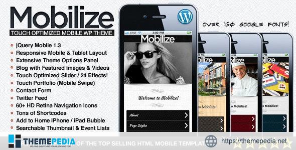 Mobilize – jQuery Mobile WordPress Theme [Latest Version]