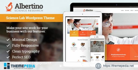 Albertino – Science Laboratory Research & Technology WordPress Theme [Free download]