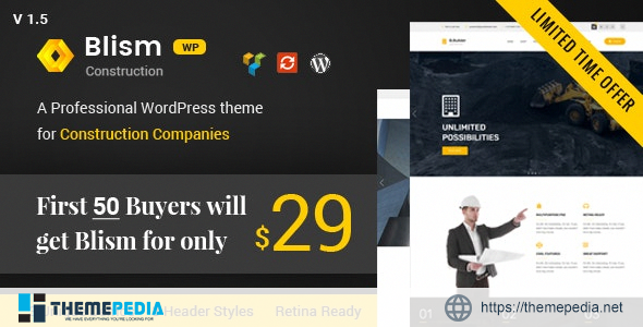Blism – Construction WordPress Theme [Free download]