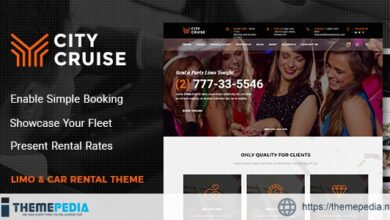 City Cruise – Limousine and Car Rental Theme [Free download]