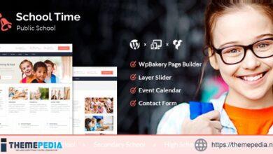 School Time – Modern Education WordPress Theme [Free download]