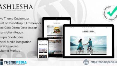 Ashlesha – Blog WordPress Theme [Latest Version]