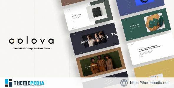Colova – Clean & Multi-Concept WordPress Theme [Free download]