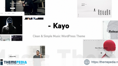 Kayo – Clean and Simple Music WordPress Theme [Free download]