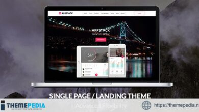 AppStack – One Page App Theme [Free download]