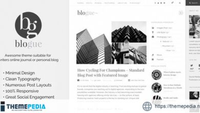 Blogue – Personal Blog WordPress Template [Free download]