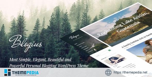 Blogius – Powerful Responsive Personal Blog Theme [Free download]