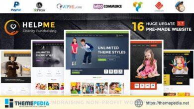 HelpMe – Nonprofit Charity WordPress Theme [Free download]
