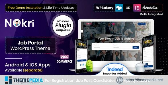 Nokri – Job Board WordPress Theme [Free download]