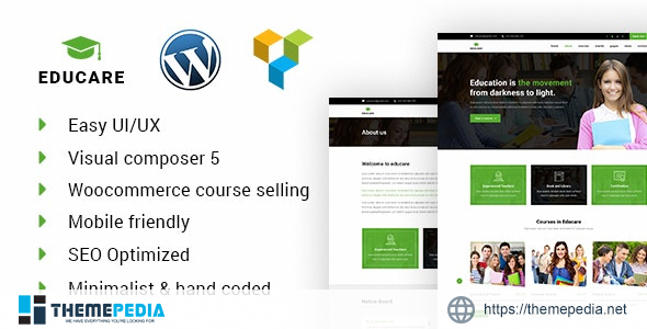 EduCare – Learning & Academy WordPress Theme [Free download]