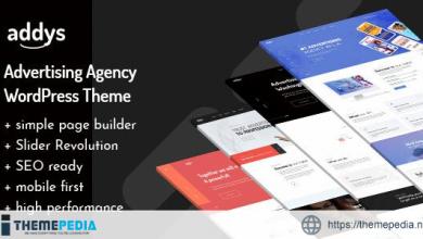 Addys – Advertising Agency WordPress Theme [Free download]