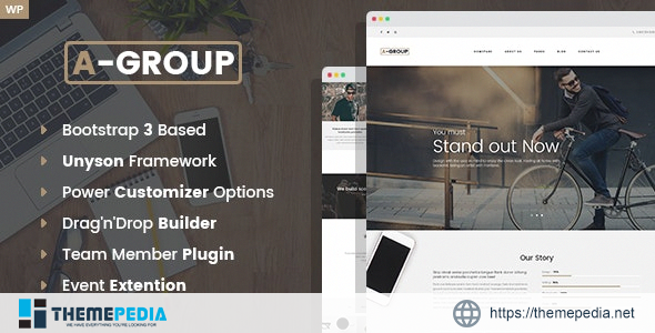 A-Group -Business Company WordPress theme [nulled]