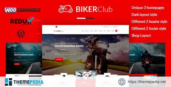 Biker Club – WordPress theme [Free download]