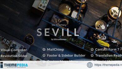 Sevill – Restaurant Cafe WordPress Theme [Free download]