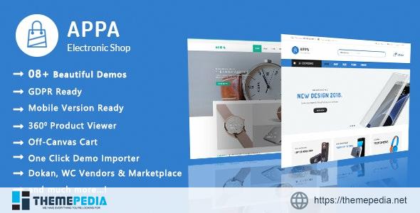 Appa – Electronics & Watches WooCommerce WordPress Theme [Updated Version]