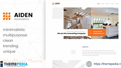 Aiden – Minimalistic Multipurpose WordPress Theme [Free download]
